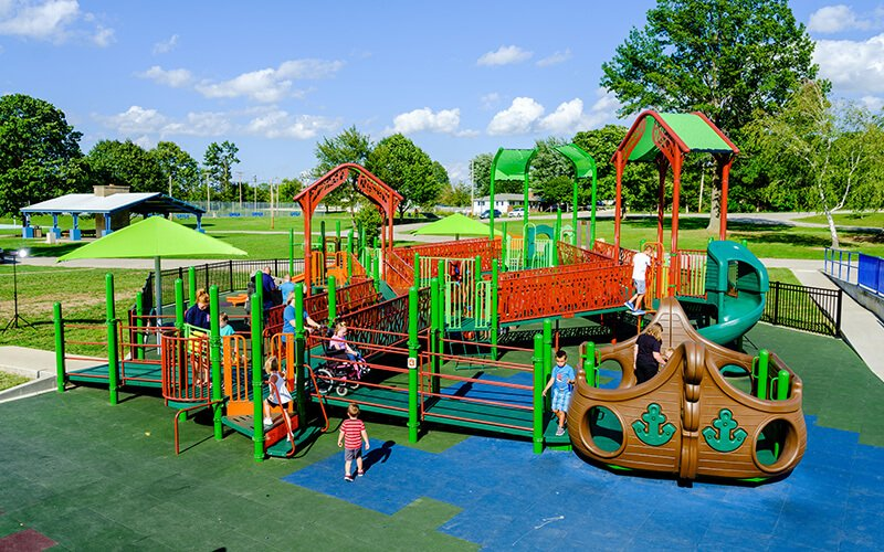All About Play - playgroundpros - Playground Equipment - Inclusive Playground Photo 3