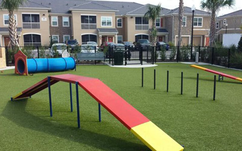 All About Play - playgroundpros - Site Amenities - Top Section - Dog On It Parks Photo 1