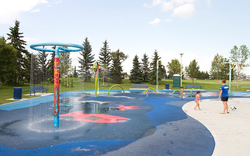 All About Play - playgroundpros - Spray Parks - Top Section - Potable Water Use System Photo 3