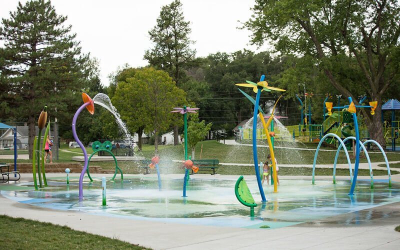 All About Play - playgroundpros - Spray Parks - Top Section - Secondary Water Use System Photo (Right)